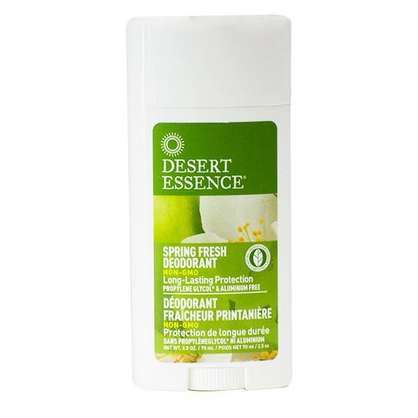 Desert Essence Déodorant fraîcheur printanière Arbre à Thé/Aloé Véra/Hamamélis - stick 70 ml