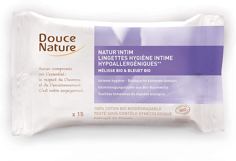 Douce Nature Natur\'intim Lingettes Bio - 15 lingettes