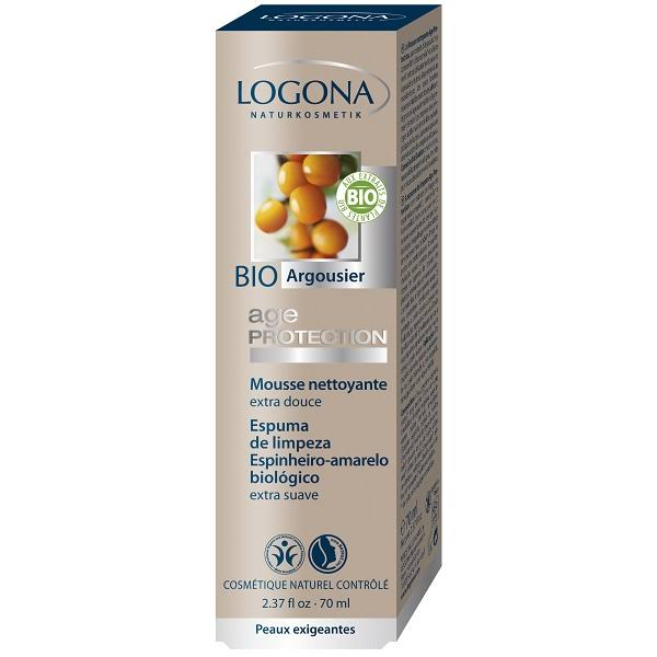 LOGONA Age protection, Mousse nettoyante - 70 ml.