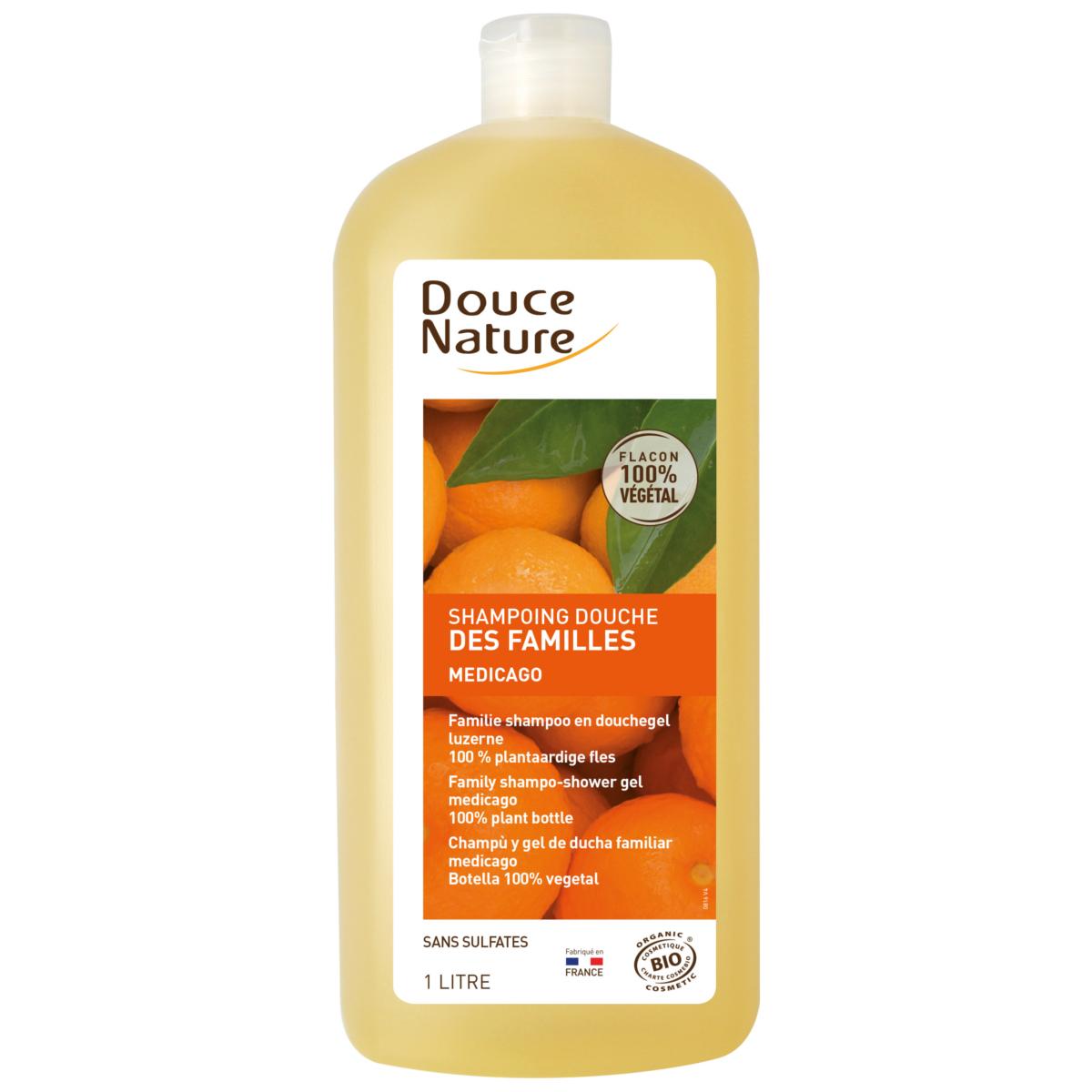 Douce Nature Shampoing douche des familles Bio - 1 litre