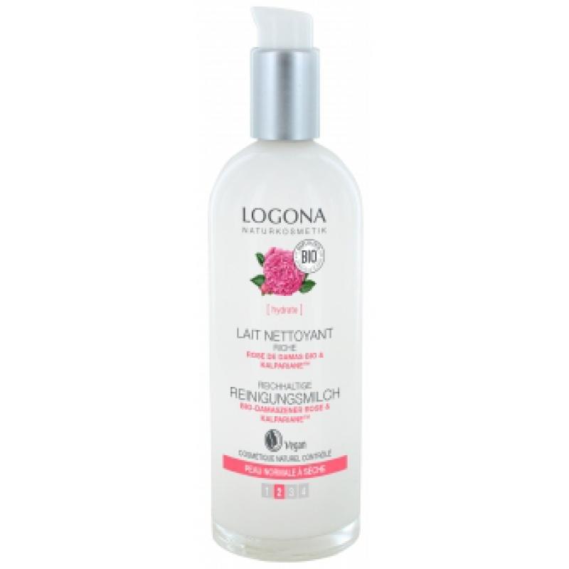 LOGONA Lait nettoyant Rose de Damas BIO - 125 ml