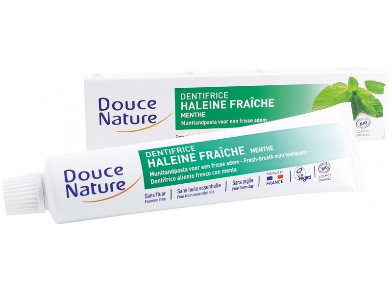 Douce Nature Dentifrice Haleine Fraîche Menthe BIO - tube 75 ml