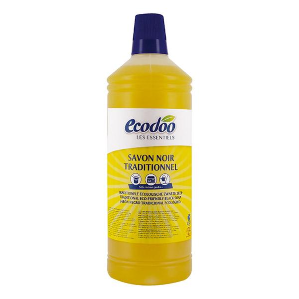 ECODOO Savon noir traditionnel à l\'huile de Lin - 1 litre