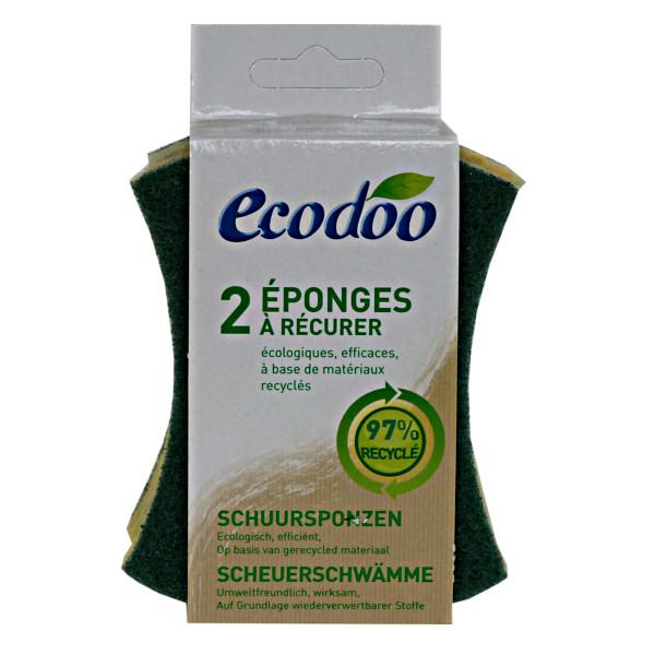 ECODOO Eponge à récurer - 2 éponges