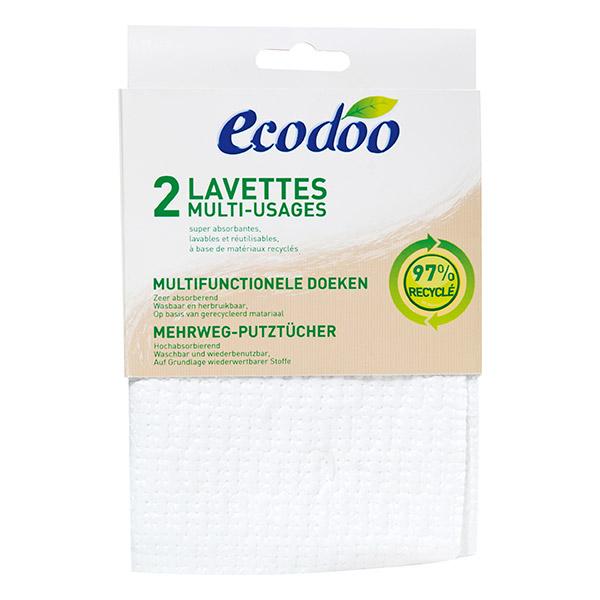 ECODOO Lavettes multi-usage  - 2 lavettes