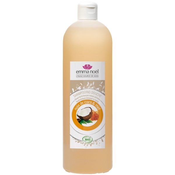 Emma Noel  Shampoing miel et extraits de coco Bio - 1 litre