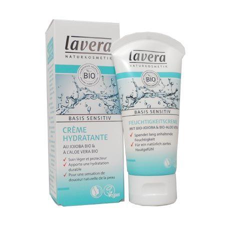 Lavera Basis, Crème hydratante visage - 50 ml