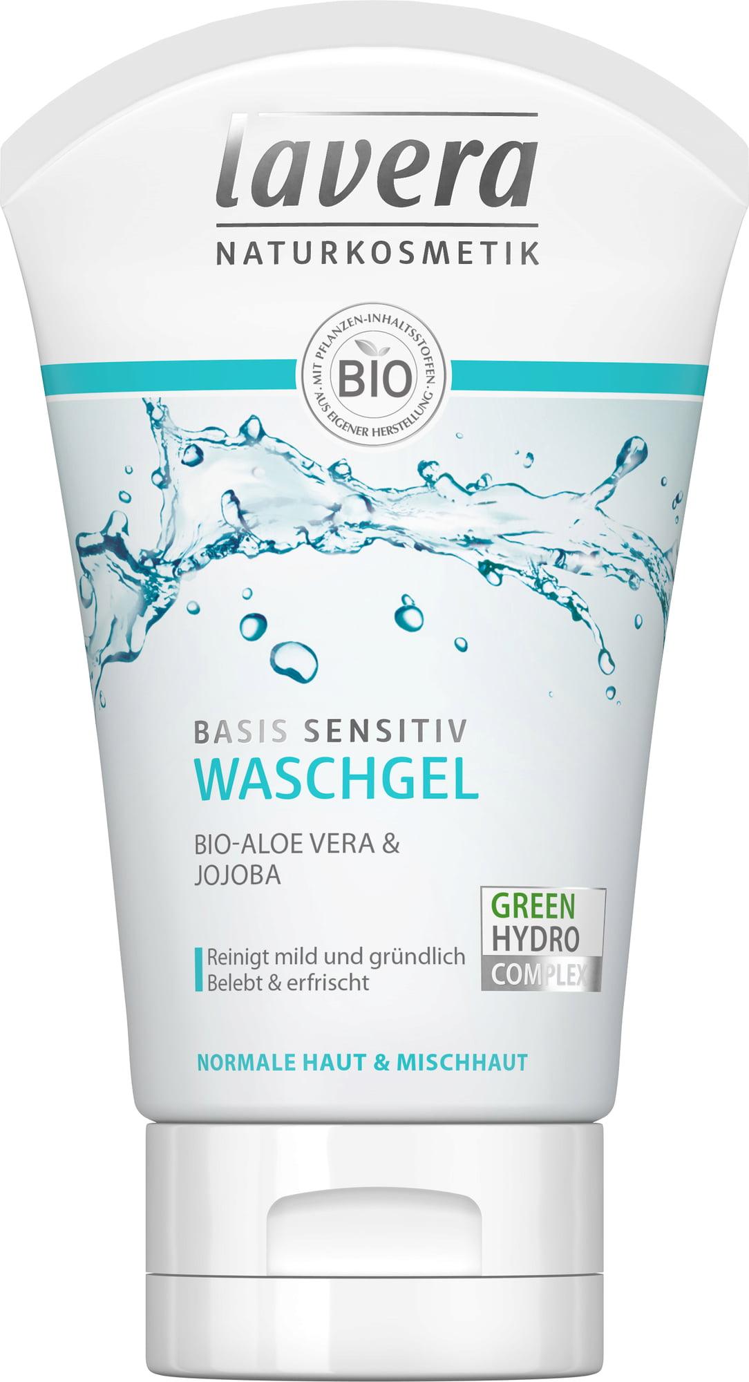 Lavera Basis, Gel nettoyant visage - 125 ml
