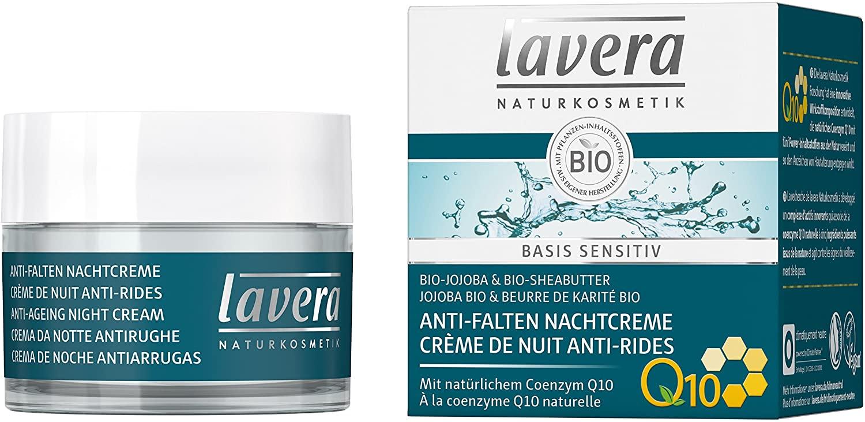 Lavera Basis, Crème de nuit anti-rides à la coenzyme Q10 - 50 ml