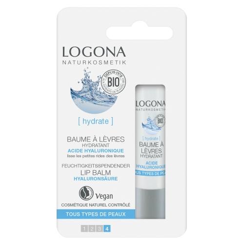 LOGONA Baume à lèvres hydratant acide hyaluronique - 4,5 g