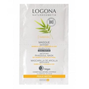 LOGONA Masque matifiant Bambou / Hamamélis BIO - 2 x 7,5 ml
