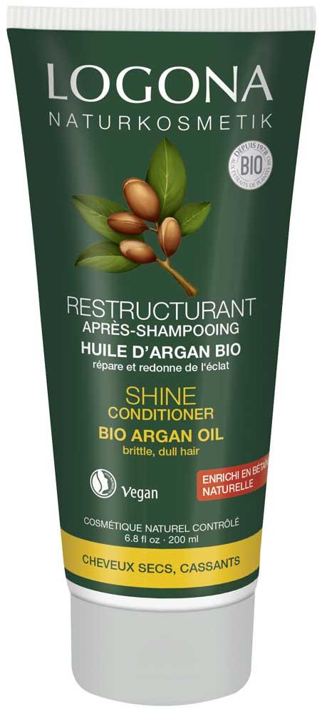 LOGONA Après-shampoing restructurant à l\'argan - 200 ml