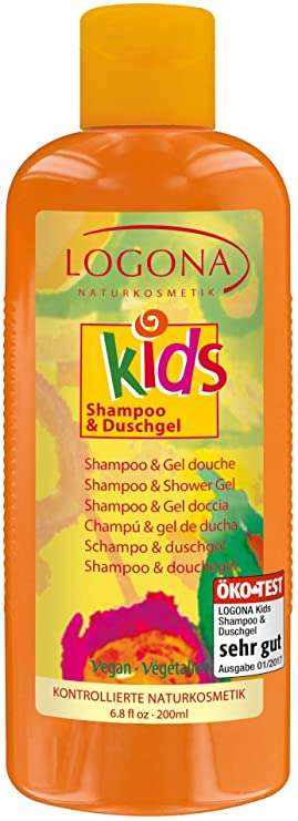 LOGONA Kids shampooing gel douche extra-fruité, 200 ml
