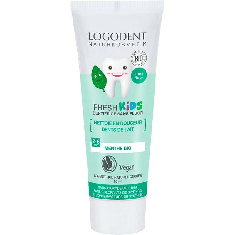 LOGONA Dentifrice Gel, Fresh Kids menthe - 50 ml