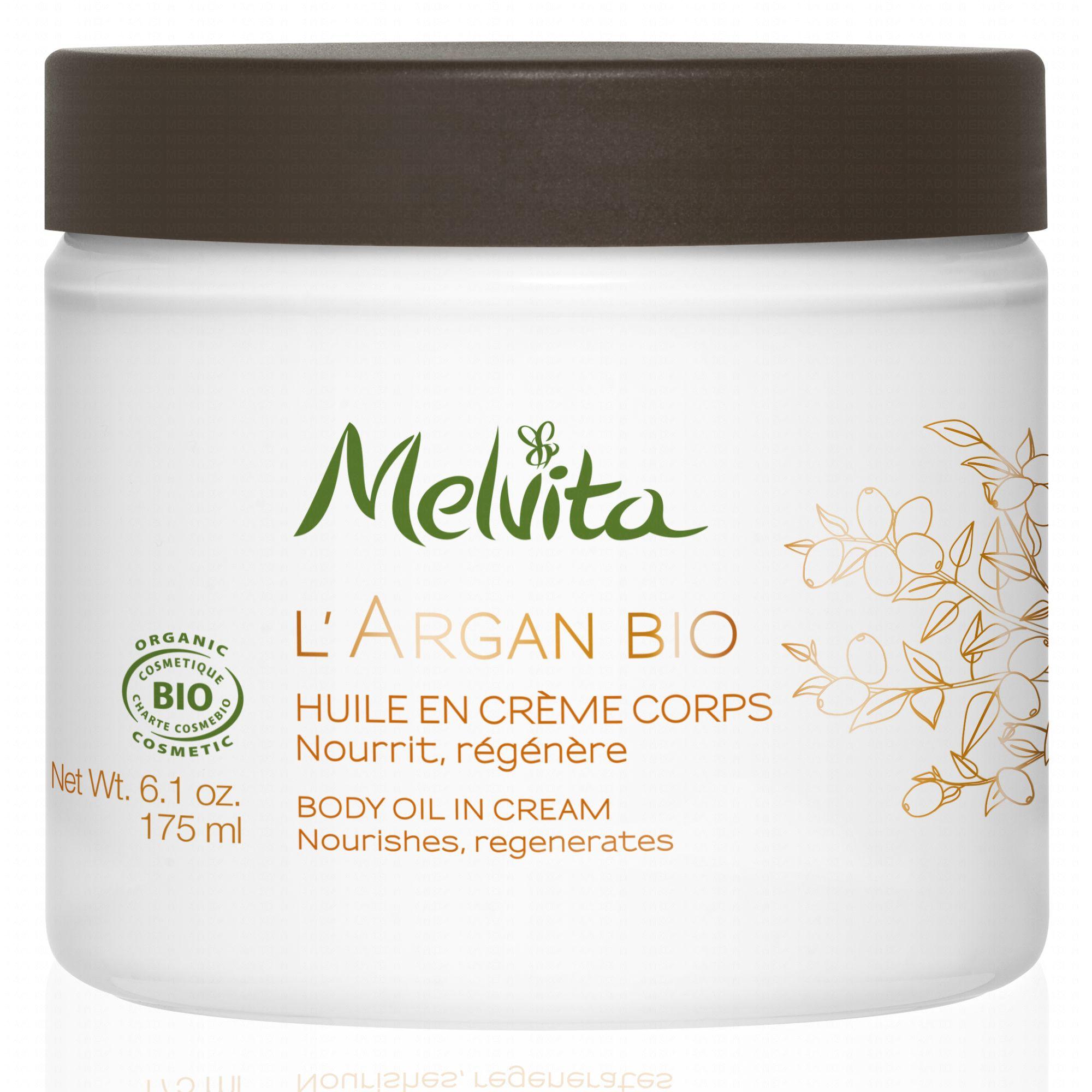 Melvita Huile en crème corps Argan pot 175 ml