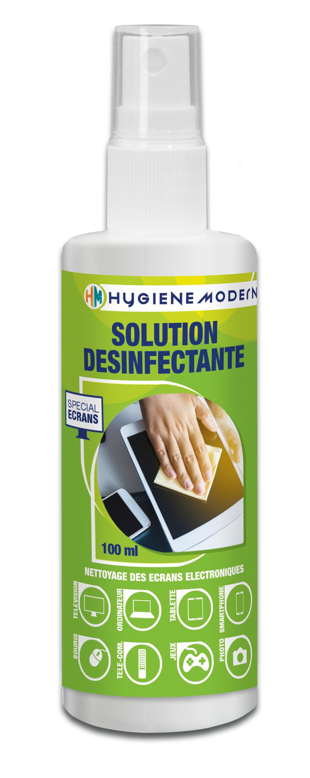 HYGIENE MODERNE Spray nettoyant désinfectant Smartphones et écrans tactiles 100 ml