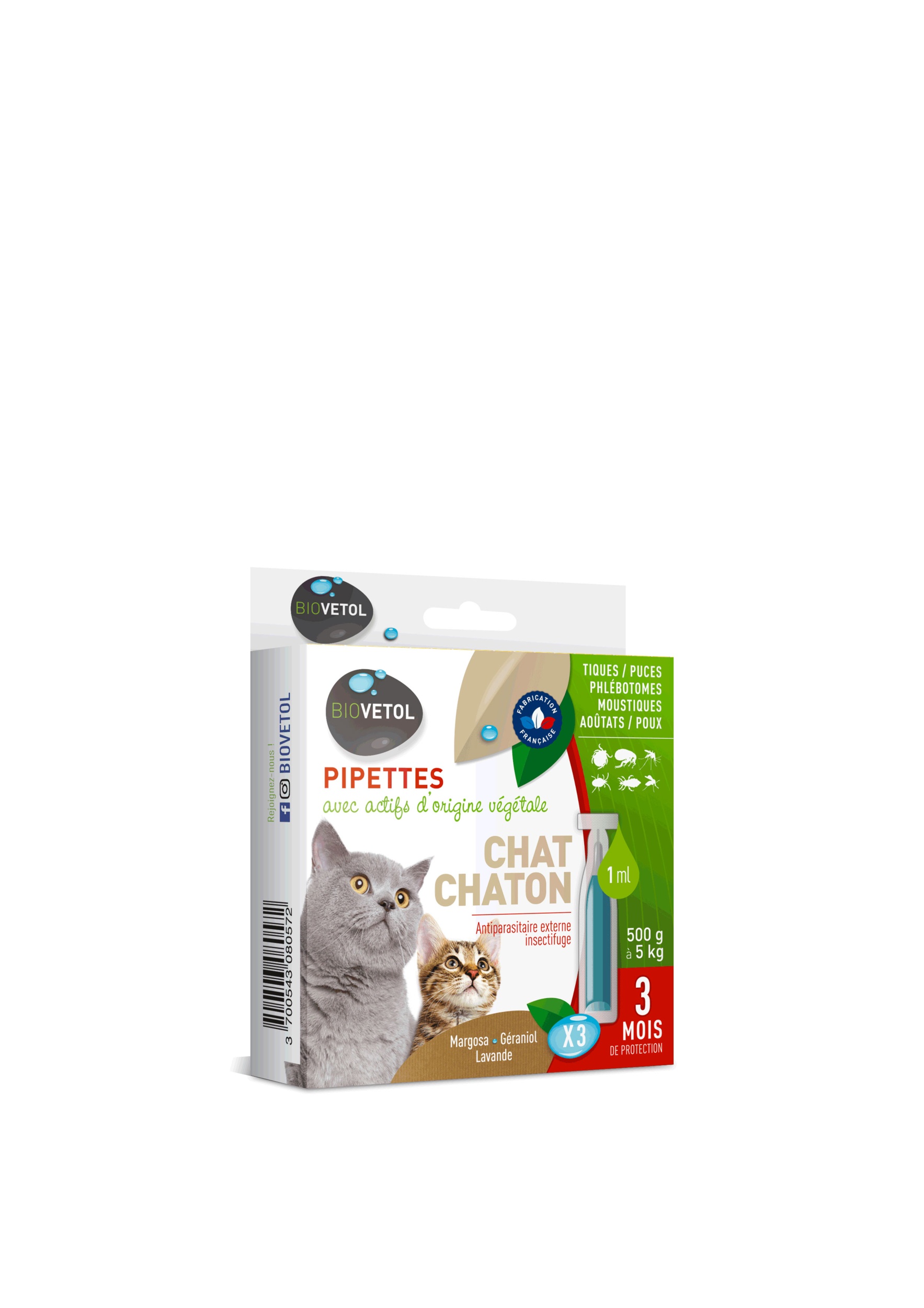 Pipettes antiparasitaire Chats et chatons