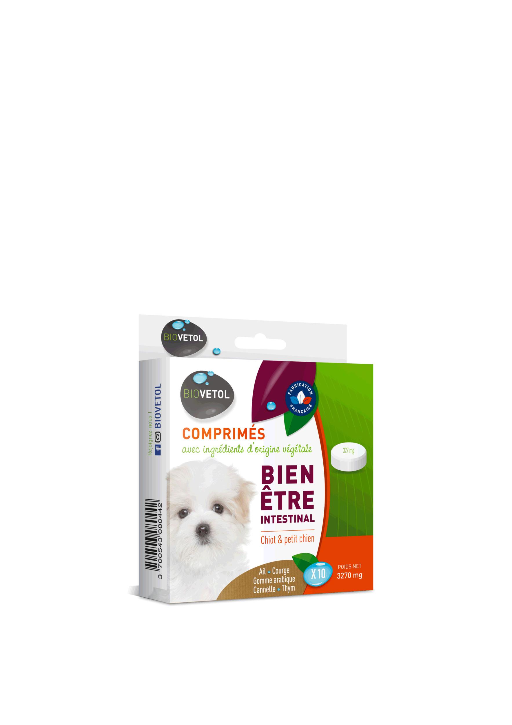 Comprimés Bien être intestinal Chiot et petit chien
