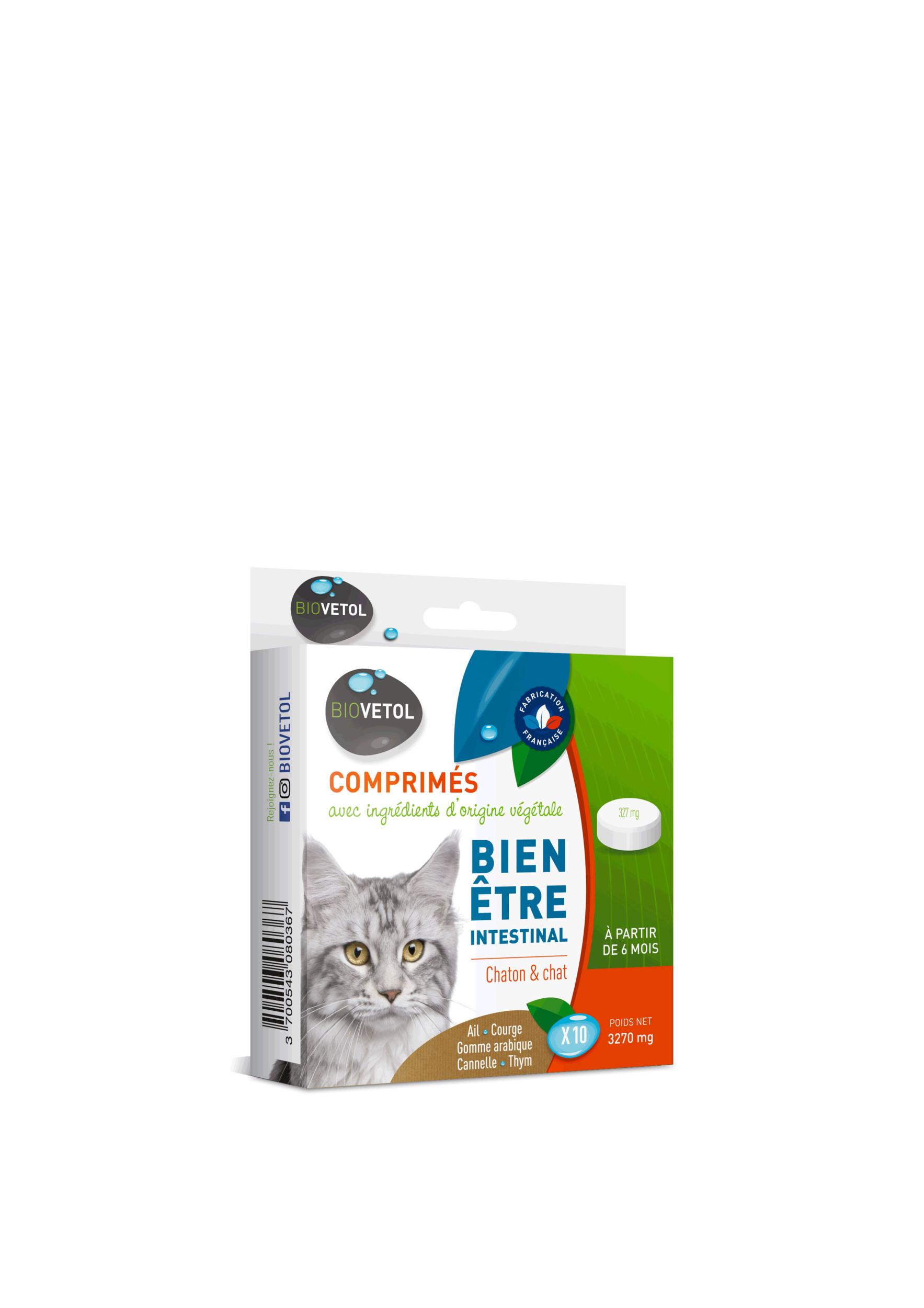 Comprimés vermifuge Bien être intestinal pour chat