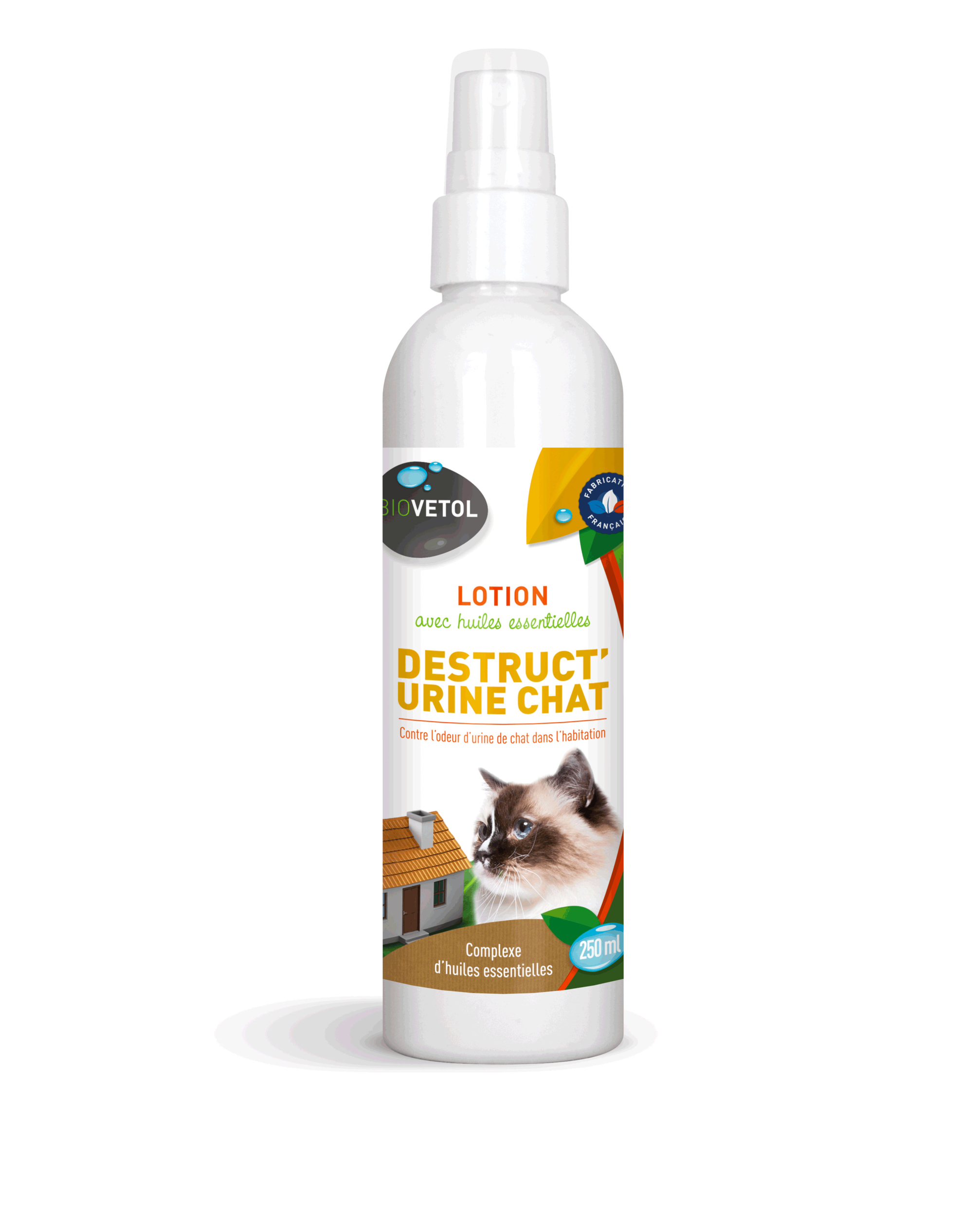 Lotion spray destructeur d\'odeur d\'urine de chats