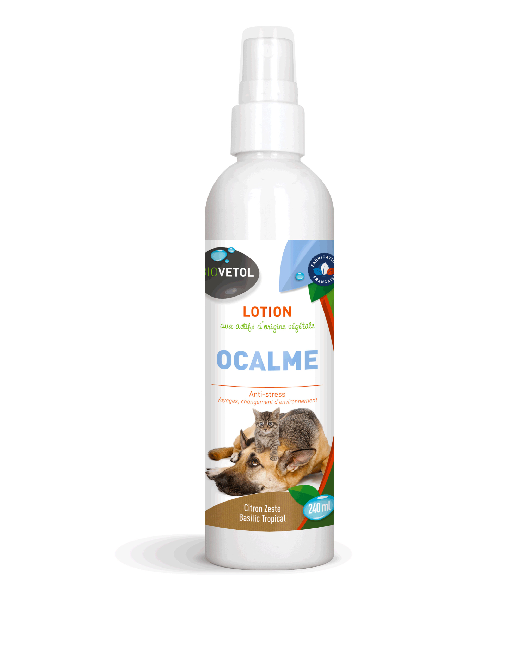 Lotion spray apaisante O\'CALME Voyages Chiens & Chats