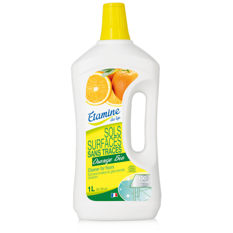 Nettoyant sols sans traces orange bio 1 L