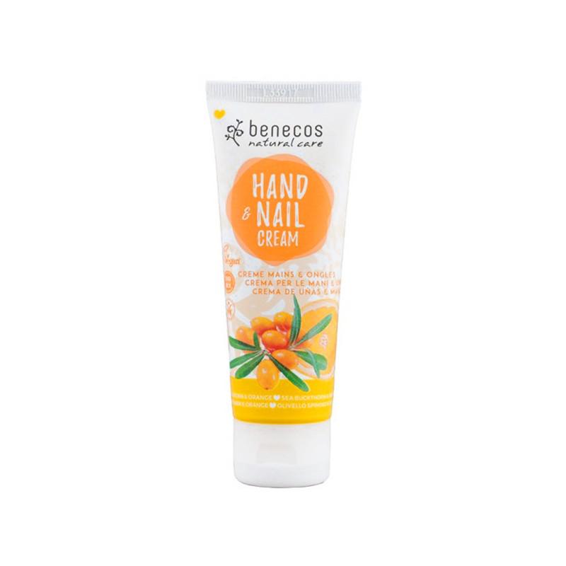 Crème mains et ongles Benecos, Végan, Bio Mix, , à l\'Argousier et à l\'Orange tube 75 ML