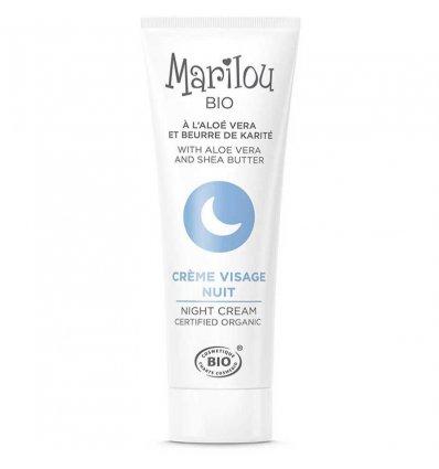 Marilou Bio crème visage nuit à l\'Aloé Véra et au beurre de Karité tube de 30 ml