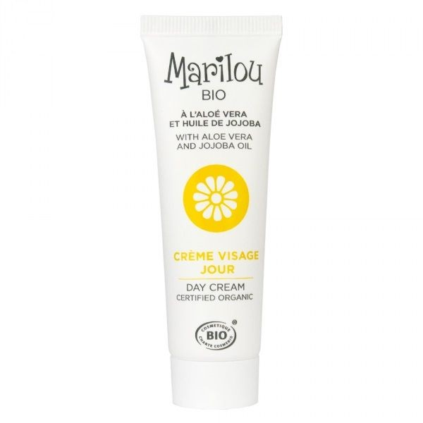 MARILOU BIO crème de jour visage à base d\'Aloé Véra et d\'huile de Jojoba tube 30 ml
