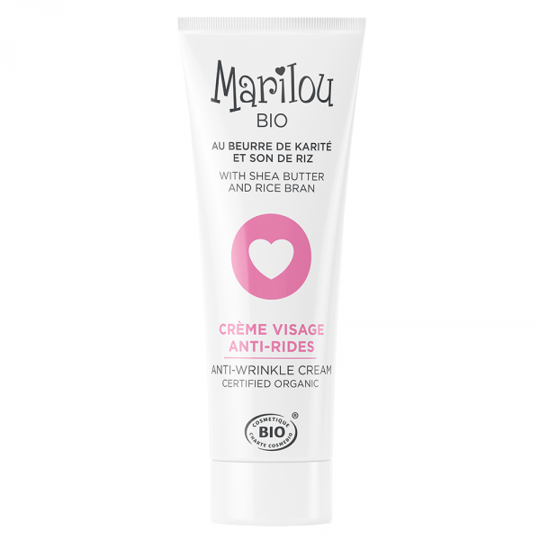 MARILOU Bio crème visage anti-rides beurre de Karité et son de riz tube 30 ml