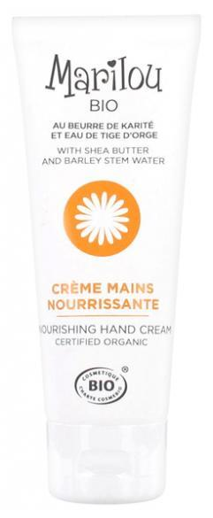 MARILOU BIO Crème mains nourrissante Beurre de Karité et eau de tige d'Orge tube de 75 ml