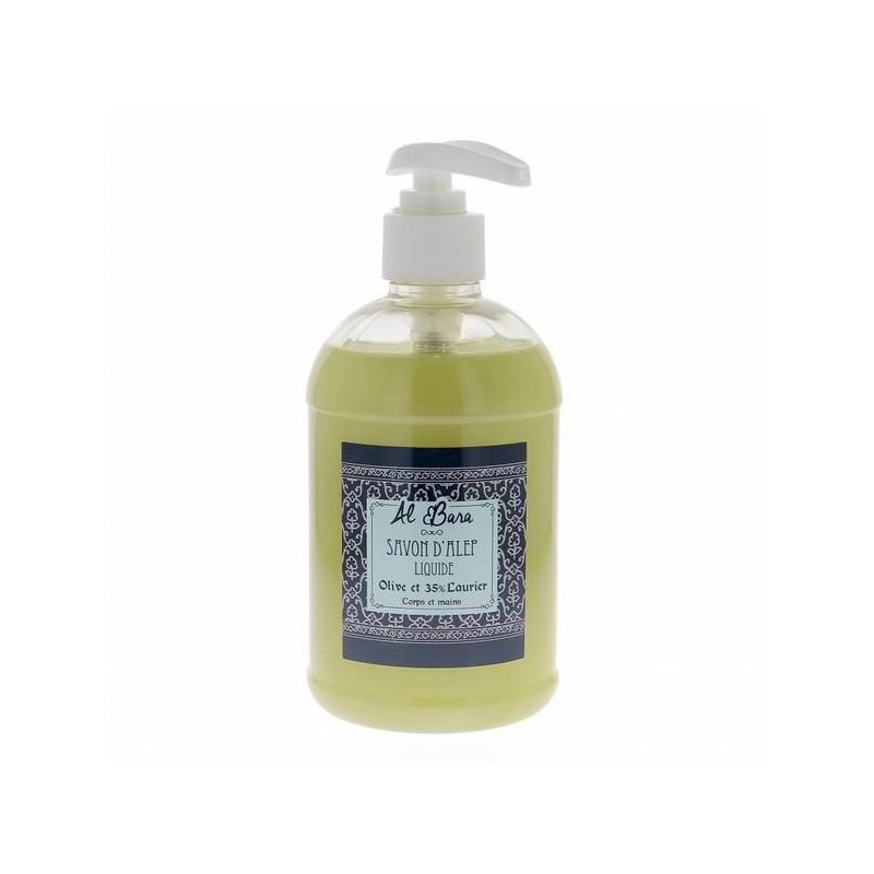Al Bara savon d\'Alep liquide olive et laurier 500 ml