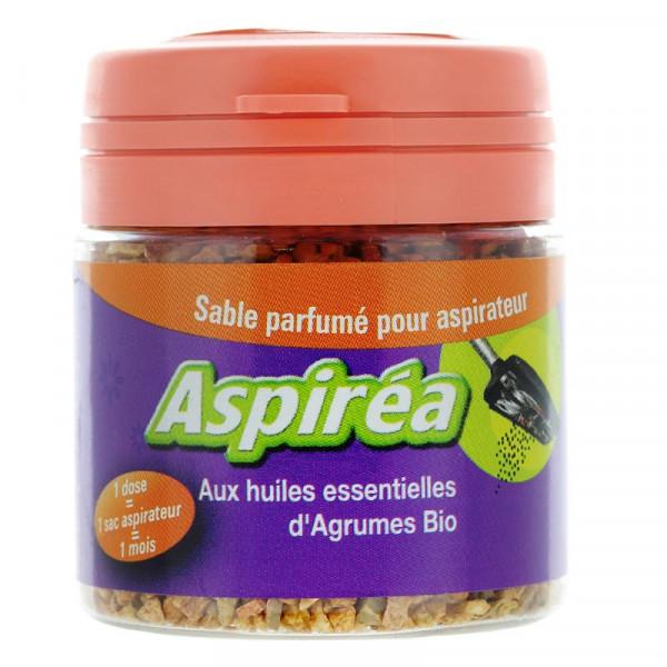 Sable parfumé pour aspirateur à l\'huile essentielle d\'agrumes Bio 60g