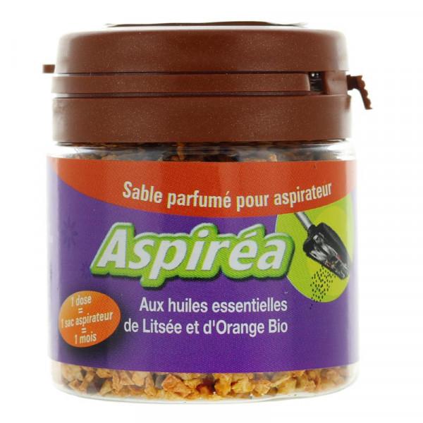 Sable parfumé pour aspirateur aux huiles essentielles de litsée et d\'orange Bio 60g
