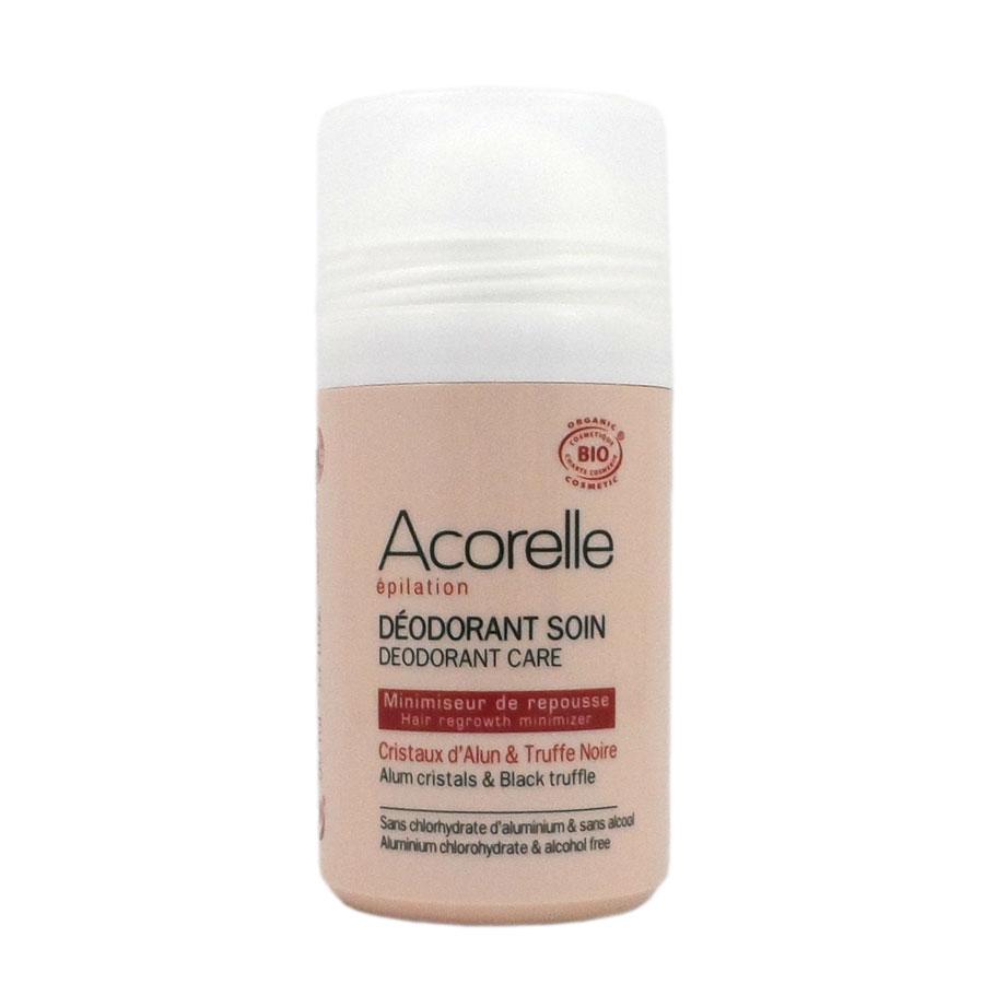 ACORELLE Bio Epilation Déodorant Soin minimiseur de repousse, Cristaux d\'Alun et Truffe Noire Roll-On de 50 ML