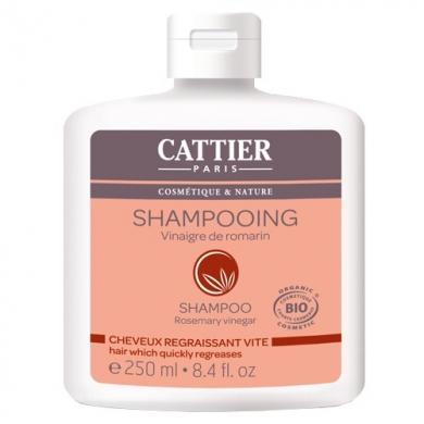CATTIER BIO Shampooing au vinaigre de Romarin Cheveux regraissant vite 250 ML