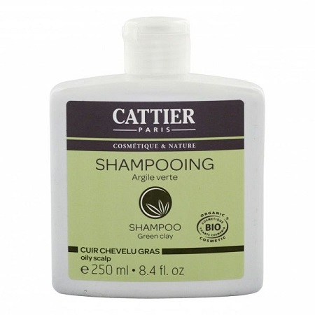 CATTIER BIO Shampooing à l\'Argile Verte Cuir Chevelu gras Flacon 250 ML