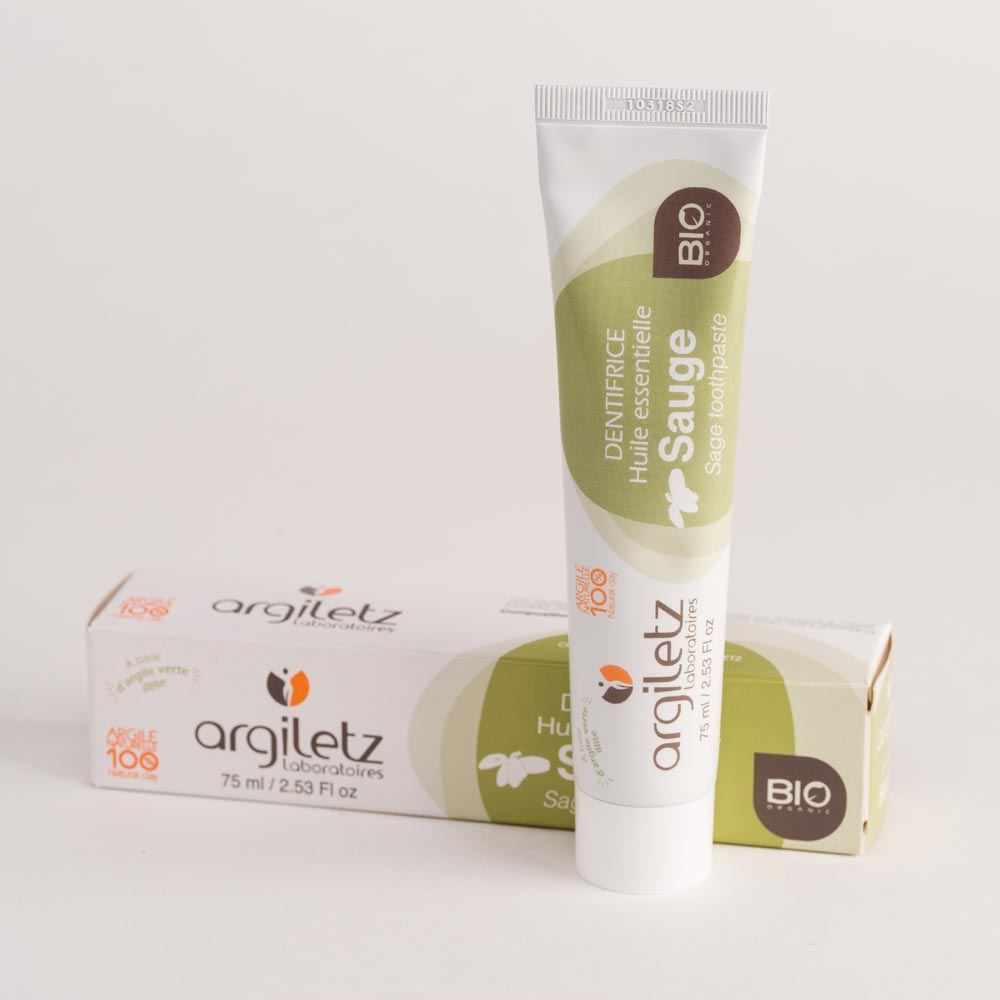 Argiletz dentifrice huile essentiel sauge Bio 75ml