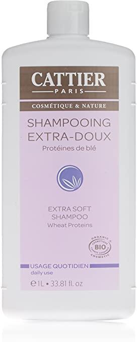 CATTIER BIO SHAMPOOING Extra-Doux Protéines de Blé Usage Quotidien Flacon 1 L
