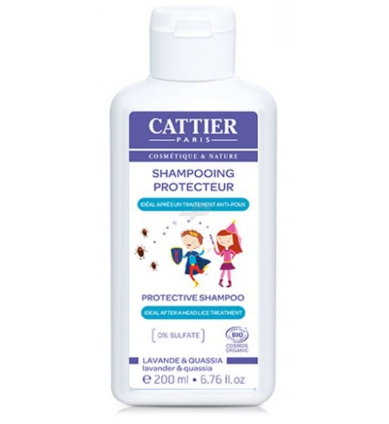 CATTIER BIO Shampooing Apaisant lavande  après un traitement Anti-Poux  dès 3 ans Flacon 200 ML