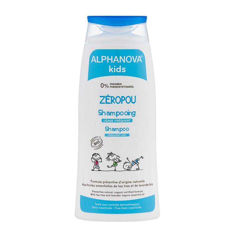 ALPHANOVA KIDS BIO Zeropou Shampooing Usage Fréquent Ultra doux Flacon 200ML