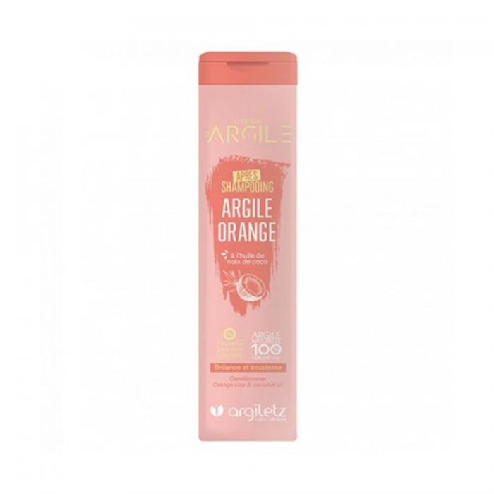 ARGILETZ Après Shampooing Argile Orange à l\'huile de noix de coco, brillance et souplesse