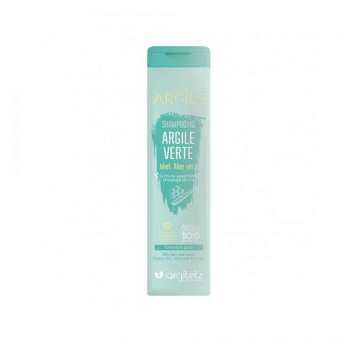 ARGILETZ Shampooing argile verte, Miel Aloe vera cheveux gras 200ML