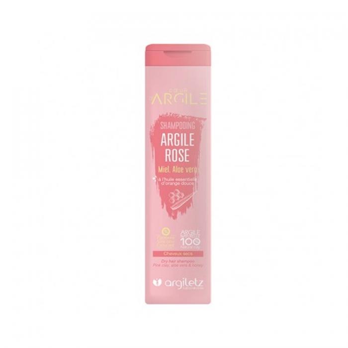 ARGILETZ Shampooing argile rose, huile essentielle d\'orange douce cheveux secs 200ML