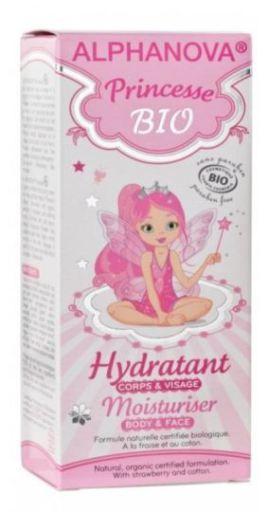 ALPHANOVA Princesse BIO Hydratant Corps et Visage Fraise coton Tube 50 ML