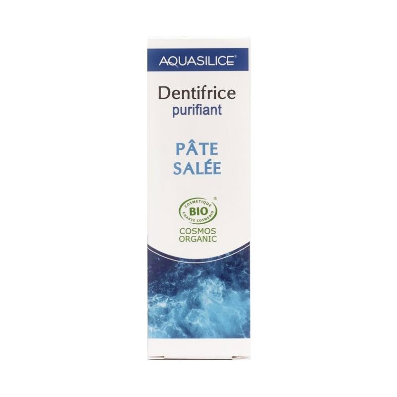 AQUASILICE BIO VEGAN Dentifrice purifiant Pâte Salée hygiéne bucco-dentaire Tube de 50 ML