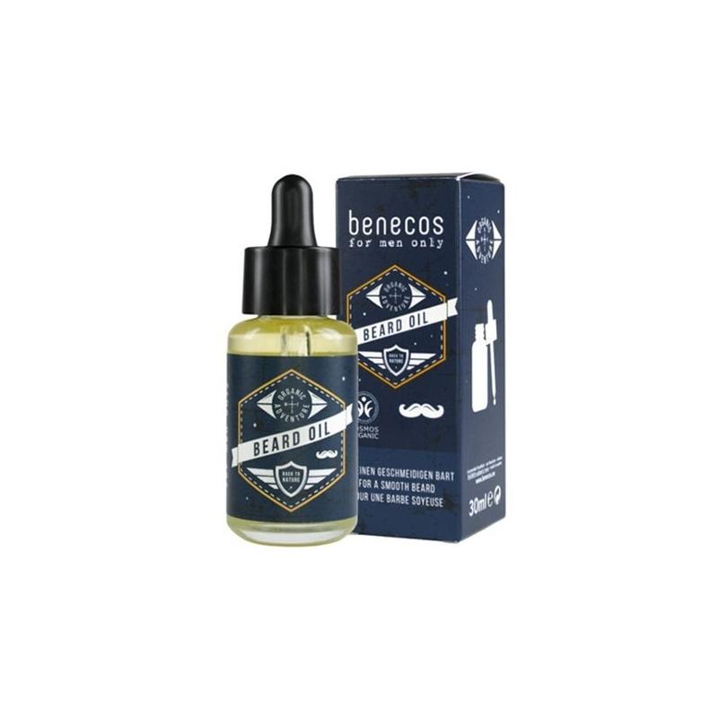 BENECOS Huile à Barbe précieuse Argan Amande Tournesol préserve la brillance de la barbe flacon pipette 30 ML