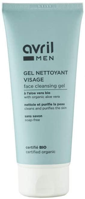 AVRIL MEN BIO Gel nettoyant visage à l\'Aloe Vera  sans savon  Tube 100 ML