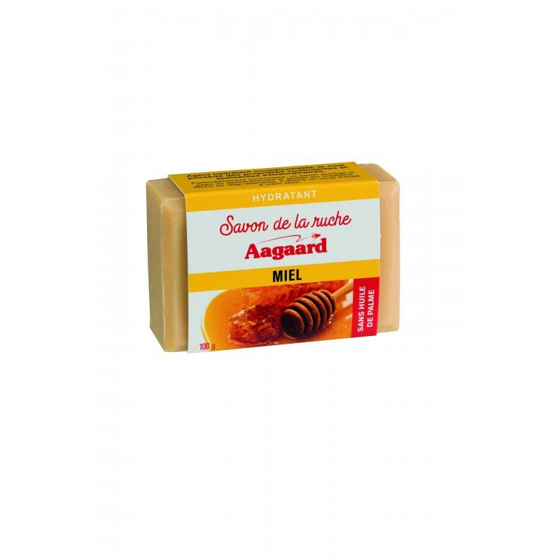 Aagaard  Savon de la ruche au miel hydratant sans huile de palme pain  100 G