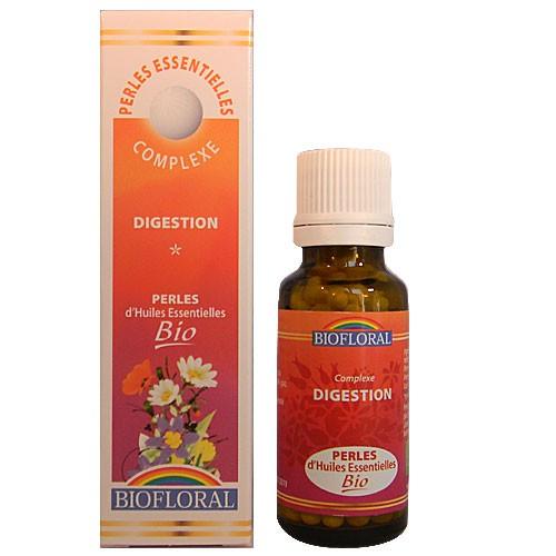 BIOFLORAL Huile Essentielle Perles BIO Digestion Aromathérapie 300 perles flacon 20 ML